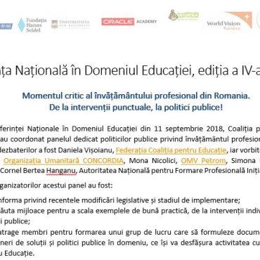 Momentul critic al învățământului profesional din Romania