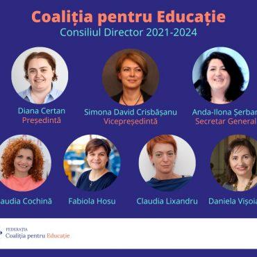 Federația Coaliția pentru Educație are o nouă conducere