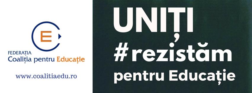 Uniți #rezistăm pentru Educație