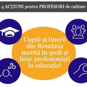 Copiii și tinerii din România merită în școli și licee profesioniști în educație!